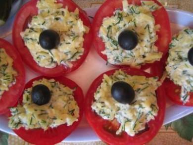 Рецепт Помидоры с сыром и чесноком