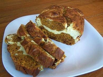 Рецепт Тыквенный хлеб с добавлением сливочного сыра