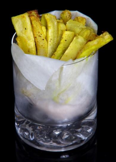 Рецепт Запеченные кабачки-фри с карри