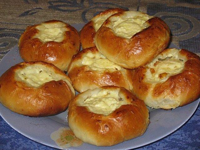Шаньга с творогом рецепт пошагово в духовке