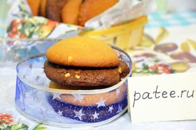 Рецепт Хрустящие арахисовые и шоколадные печенья