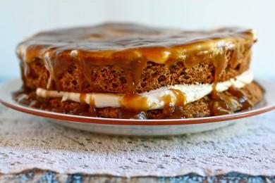 Рецепт Торт с взбитыми сливками и карамелью