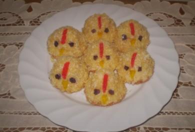 Рецепт Пирожные Цыплята