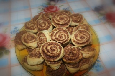 Рецепт Печенье Шоколадные розочки