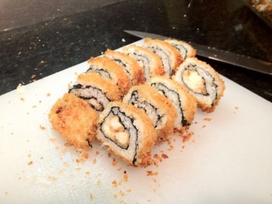Рецепт Суши с курицей и сыром