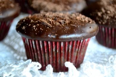Рецепт Шоколадные кексы с ганашем
