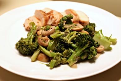 Рецепт Жареные грибы с брокколи