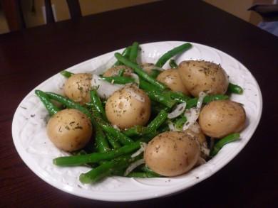 Рецепт Картофель с зеленой фасолью