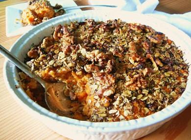 Рецепт Овсяная запеканка с сладким картофелем