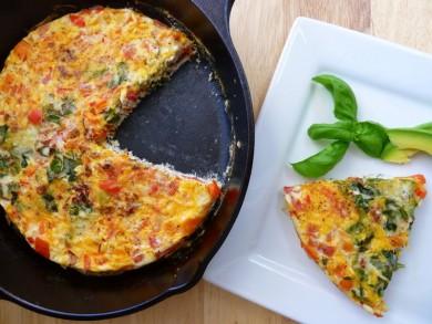 Рецепт Фриттата с перцем и помидорами