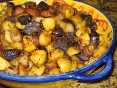 Рецепт Жареный картофель с зеленью