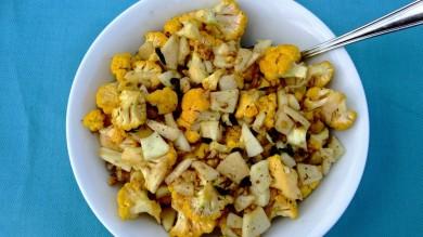 Рецепт Цветная капуста с яблоками