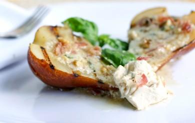 Рецепт Груши с сыром и беконом