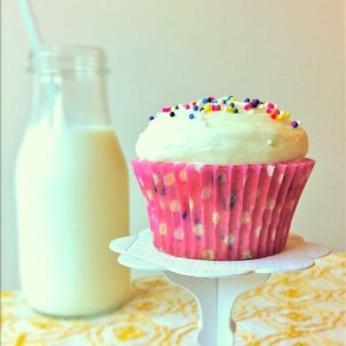 Рецепт Кексы с ванильным кремом