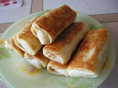 Рецепт Блины с начинкой из печени