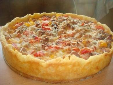 Рецепт Пирог с мясом и болгарским перцем