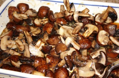 Рецепт Запеченные грибы с чесноком