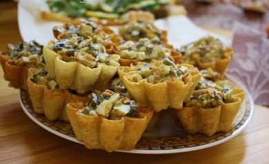 Рецепт Грибной салат в корзиночках