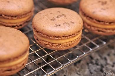 Рецепт Печенье Макарон с соленой карамелью