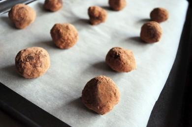Рецепт Шоколадные трюфели с ликером