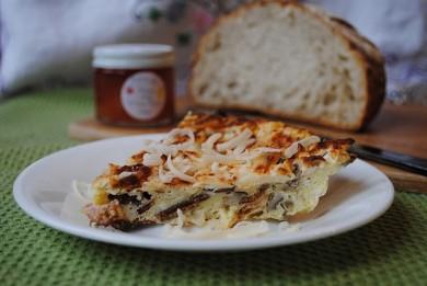 Рецепт Омлет с карамельным луком и грибами