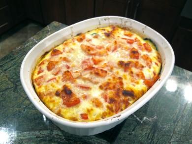 Рецепт Запеканка из кабачков с помидорами