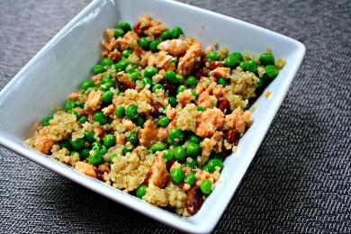 Рецепт Салат с лососем и киноа