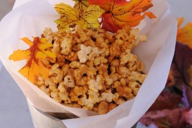 Рецепт Карамельный попкорн с арахисом