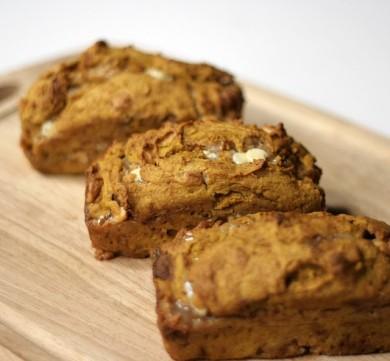 Рецепт Тыквенный хлеб с белым шоколадом