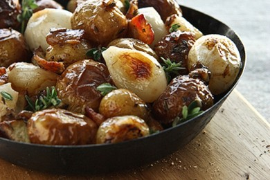 Рецепт Запеченная картошка с беконом и луком