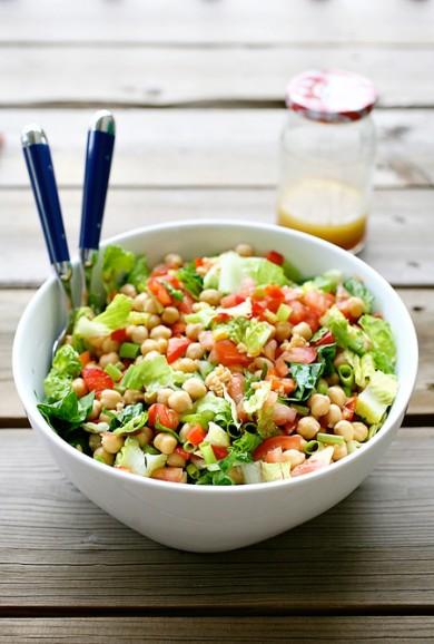 Рецепт Овощной салат с нутом