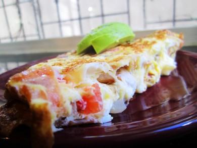 Рецепт Омлет с помидорами и сыром