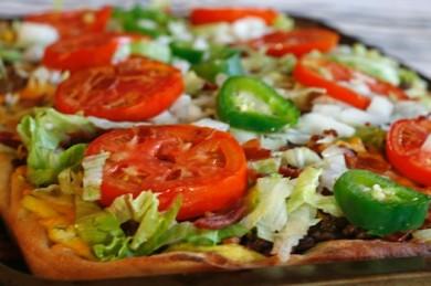 Рецепт Пицца с беконом и овощами