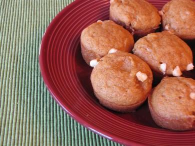 Рецепт Тыквенные кексы с белым шоколадом