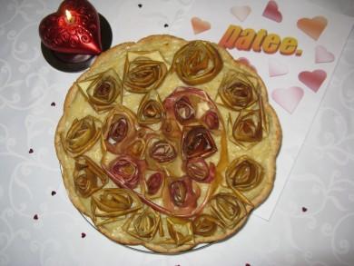 """Рецепт СЕРДЕЧНАЯ ИСТОРИЯ:  Яблочный пирог """"Миллион роз"""""""
