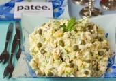 Салат с копчёной куриной грудкой и овощами