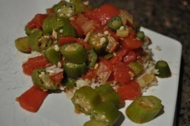 Рецепт Бамия с помидорами