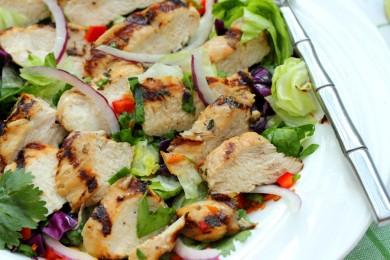Рецепт Куриный салат с овощами
