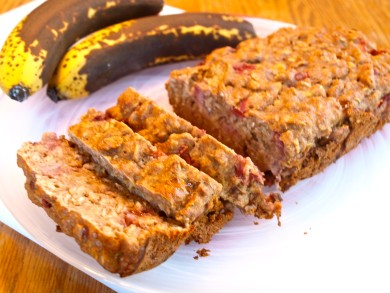 Рецепт Клубнично-банановый кекс