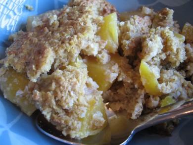 Рецепт Овсянка с персиками