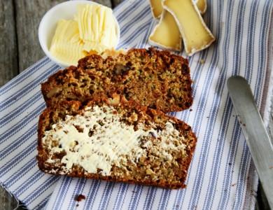 Рецепт Кабачковый хлеб с клюквой и орехами
