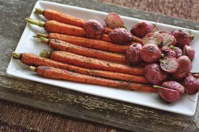 Рецепт Запеченная морковь с редисом