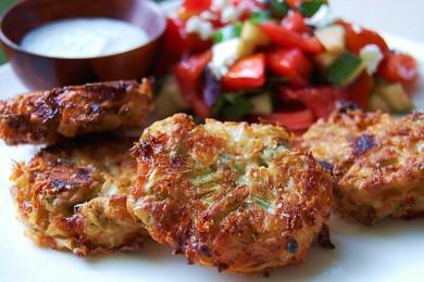Рецепт Сырные оладьи с бамией