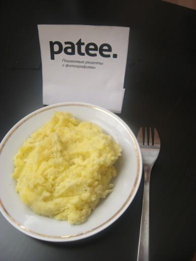 Рецепт Картофельное пюре с чесноком
