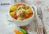 Фрикадельки с овощным рагу