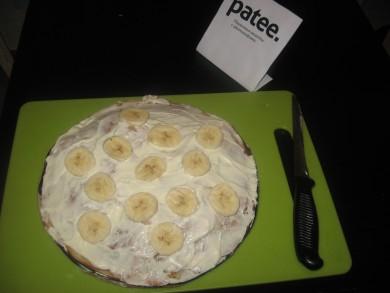 Рецепт Блинный банановый торт