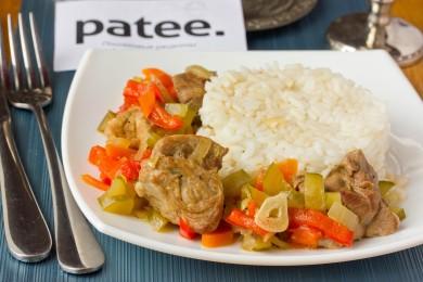 Рецепт Свинина, тушеная с овощами в огуречном рассоле