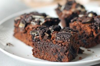 Рецепт Брауни с кофе и шоколадным печеньем