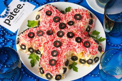 Рецепт Салат с крабовыми палочками Морская звезда