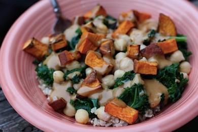 Рецепт Рис с капустой кале и сладким картофелем